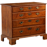 REDUCED American Chippendale Walnut Chest of Drawers w/ Pierced Bracket Feet, Late 18th Centur