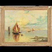 SALE Nicholas Briganti Venice Antique Painting Signed