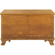 SALE American Painted Antique Blanket Chest, Pennsylvania c. 1820-40