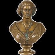 SALE Jean-Baptiste Clesinger Gilt Bronze Sculpture Bust, Barbedienne