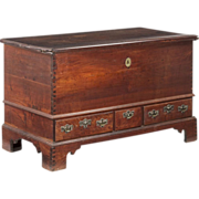SALE American Chippendale Antique Blanket Chest of Drawers, Pennsylvania, 18th Century