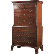 SALE English Chippendale Antique Chest of Drawers, Late 18th Century