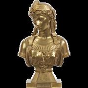 SALE Egyptian Revival Antique Bronze Sculpture of Cleopatra by Eutrope Bouret