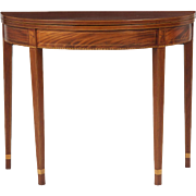 SALE American Federal Mahogany Card Table, Antique c. 1800