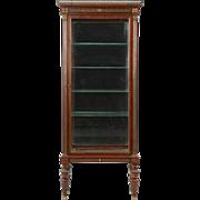 French Louis XVI Antique Vitrine Display Case Cabinet c. 1900