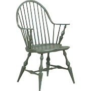 American Windsor Style Continuous Arm Chair, 20th Century