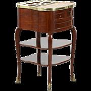 French Louis XV Antique Liquor Table Cabinet, Escalier de Cristal c. 1890