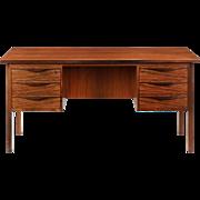 Danish Mid-Century Modern Rosewood Vintage Executive Desk