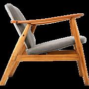 Danish Mid-Century Modern Vintage Sculpted Teak Lounge Arm Chair