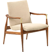 Vintage Danish Mid-Century Modern Rosewood Lounge Chair