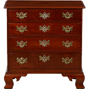 American Chippendale Mahogany Bachelors Chest of Drawers, Benchmade, 20th Century