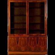 Danish Mid-Century Modern Bookshelf Display Cabinet Console, Vintage