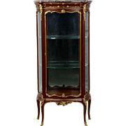 Exceptional French Louis XV Style Gilt Bronze Vitrine Display Cabinet c. 1880