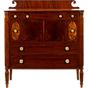 American Federal Antique Sideboard Cupboard in Mahogany c. 1830