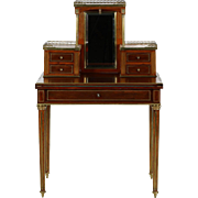 French Antique Mahogany Writing Desk, 19th Century in Louis XVI Style