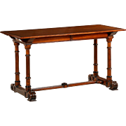 English Renaissance Revival Antique Library Table by Gillows c. 1880
