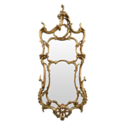 French Louis XV Style Antique Mirror, 19th Century