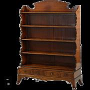 English Regency Antique Mahogany Bookcase, 19th Century