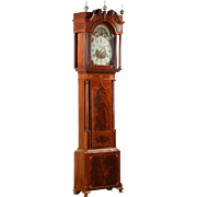REDUCED English Georgian Mahogany Antique Tall Case Clock, Tribute to Admiral Horatio Nelson