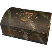SALE Early Small Wooden Trunk