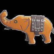 Bakelite & Metal Martha sleeper Elephant Pin Brooch