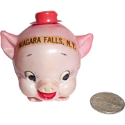 Rare Celluloid Roly Poly Pink Porky Pig with Hat Tape Measure Niagara Falls New York ...