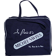 Michel Swiss Vintage Airline Type Carry On Bag Rue de la Paix, Paris