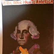 "SOLD Peter Max ""George Washington Poster ""rare museum mounted  print great color"