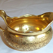 SALE Osborne AOG Gold Encrusted Pickard Trailing Vine Pattern Sugar and Creamer