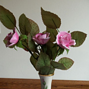 SALE Lenox Mother's Day Vase Dated 1986 Aynsley Pink Roses Bouquet