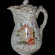 SALE Antique Rare Artist Signed -  Martial Redon Limoges Chocolate Pot - Helena Wolfsohn Dresd