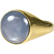$11,000 Retail!  Huge Mens 11ct Genuine Star Sapphire 14k Yellow Gold Ring