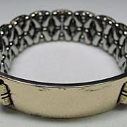Vintage Gold Filled Retro ID Stretch Bracelet (Unused)
