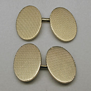 Double Sided 14K Yellow Gold Cuff Links