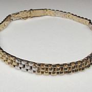 18K Two Tone Gold Rolex Jubilee Style Bracelet