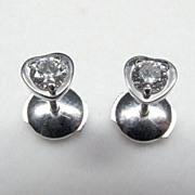 Designer Cartier 18K White Gold & Diamonds Earrings Diamants Legers de Cartier Earrings Heart