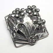 Gorgeous Vintage Sterling Silver Floral Pin