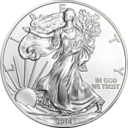 Collectible 2014 US 1 Troy Oz. American Silver Eagle Coin Brilliant Uncirculated
