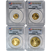 PCSG Certified Collectible 2005 American Gold Eagle 20th Anniversary Set