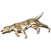 Best in Show: Sterling and 14K Gold Brooch Featuring Pointer Breed Dog