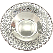 Wedding Day Keepsake, Ready to Engrave, Antique Sterling Silver Filigree Dish