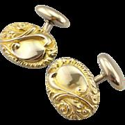 Handsome 14K Gold Cufflinks from the Victorian Era