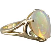 Pear Cut Opal Cocktail Ring, Welo Opal from Ethiopia