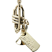 Jazz Music, Rhythm and Blues, Rock and Roll, New Orleans Trumpet Charm or Pendant