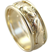 Soft Posies and Sweet Gold Wedding Band