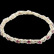 Ruby and Diamond Classic Tennis Bracelet