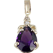 The Amethyst Sabrina Pendant By Market Square Jewelers, Lovely Scrolling 14K Yellow Gold ...