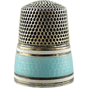 Sweet Blue Kiss: Early 1900's Enameled Sewing Thimble