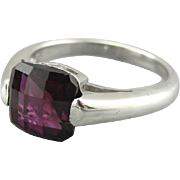 Fancy Cut Blackberry Garnet Cocktail Ring