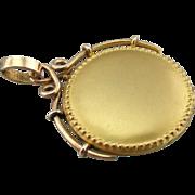 A Brushed Gold Moon: Victorian Revival Locket Pendant, Old Dealer Stock
